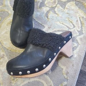 Lucky Brand Leather Clogs
